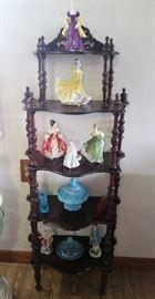 5 tiered mahogany shelf