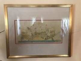 Original Egyptian silk screen from King Tut tour