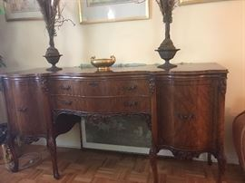 1930s French Burlwood Buffet in mint condition