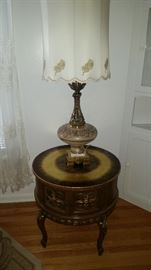 We have a set of 2 of these lamps and 2 of these lamp tables available.
