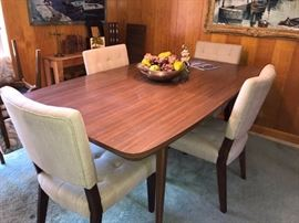 Mid Century Dining Table, Original Chairs are also available.