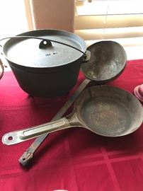 Cast iron and antique cookware