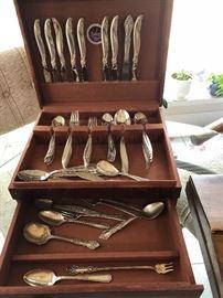 Antique Rogers Leilani silverware set
