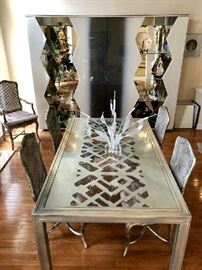 Classic Phyllis Morris Glam Silver Leaf Designs, Modern, Unique, Evocative Furnishings of All Kinds