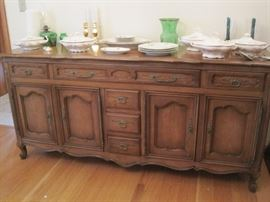 French Provincial large buffet & china