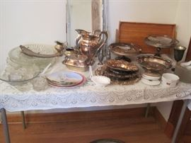 silver plate & glass