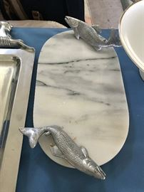 Marble Fish Slicing Slab