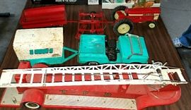 Nylent Jeep & trailer, fire truck ladder. tractor etc.