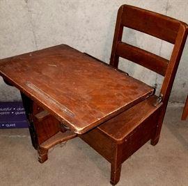 Child's vintage school desk