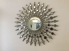Large Mod mirrored wall hanging
