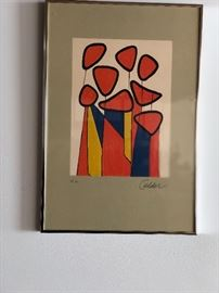 "Alexander Calder Lithogragh ""Les Fleurs"""