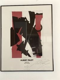 Albert Paley signed exhibition poster 1999
