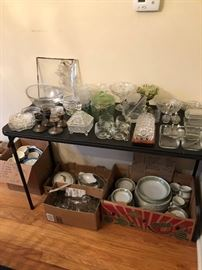 Tons of crystal, servers, Lenox and more