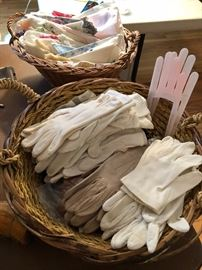 LOTS of Vintage glove, handkerchiefs, accessories and they keep on coming!