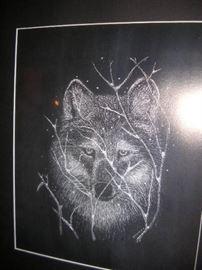 Original scratch board art