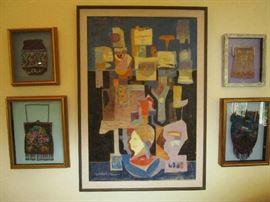 Encaustic Painting by Nancy Reid Gunn, Lemoyne Art Foundation permanent collection artist.