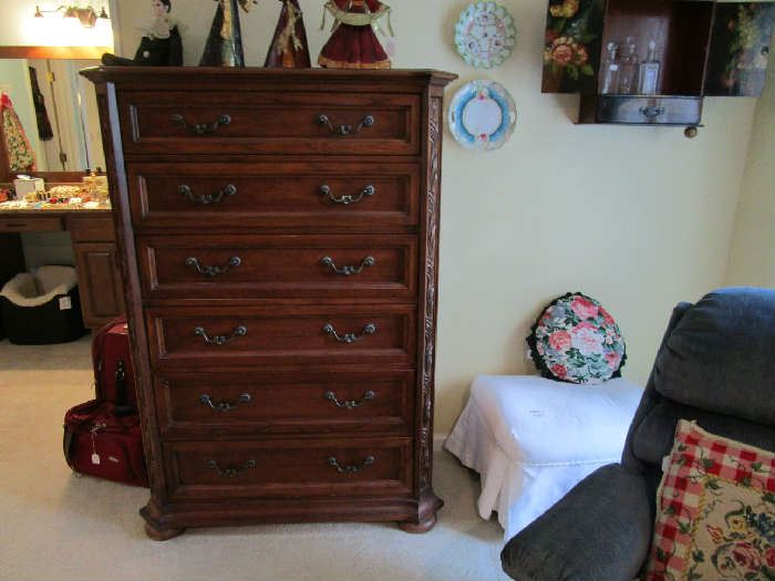 Thomasville Furniture high boy chest of drawers.
