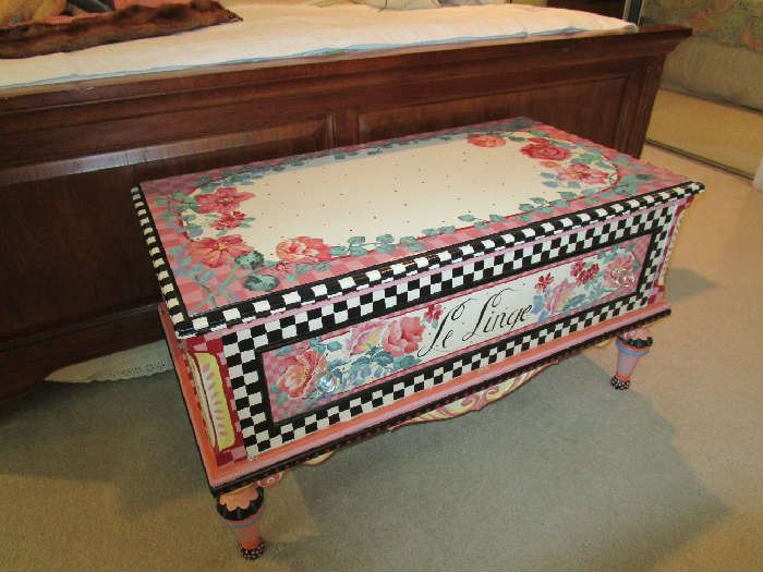 Artist painted blanket chest.