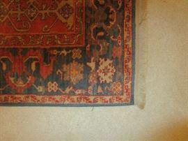 "Karastan rug.  Williamsburg collection.  Size 4'3"" by 5'9""."
