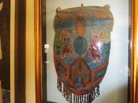 Antique framed beaded purse.