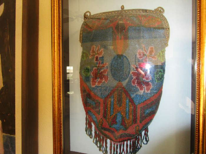 Antique framed beaded purse.