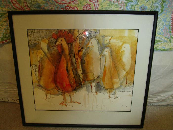 Cynthia December signed painting.