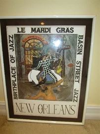 New Orleans poster signed by George Luttrell.