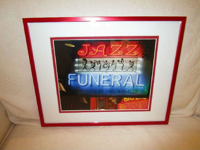 """Jazz Funeral in New Orleans"" framed photograph by Clara Cook."