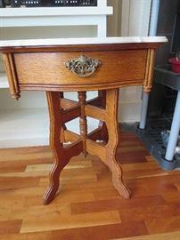 Marble Oak Table