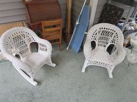 2 Wicker Childs Chairs