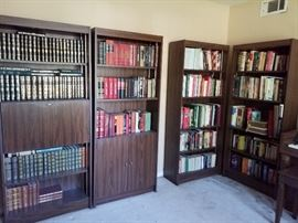 Wooden bookshelves, Encyclopedia Britannica Collection