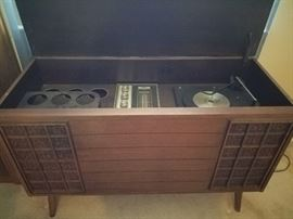 Vintage Console Stereo Cabinet