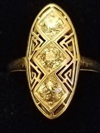 .85+ Old European cut Diamonds in 14k White Gold