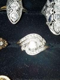 .7ct+ Diamond 2pc set in 14k White Gold