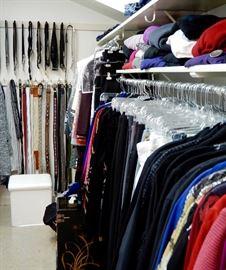 CLOSETS FULL OF CLOTHES