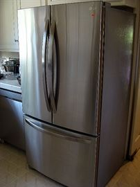 Like new LG stainless refrigerator