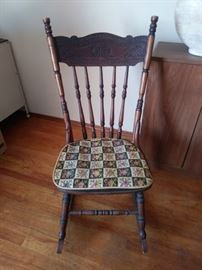 Wood Rocking chair.