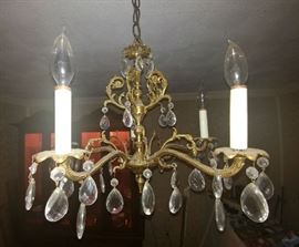 brass antique chandolier