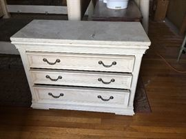 Bernhardt Stone topped Chest/nightstand pair