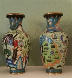 Beautiful Cloisonné Vases