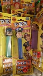 Hero Pez new in package.  Now we need to add  Sully and Tammy Jo Airline Pilot versions!