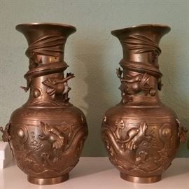 Brass Chinese vases