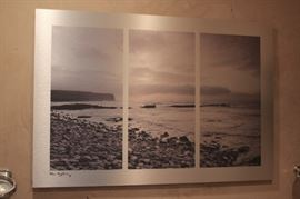 3 Piece Photographic Beach Scene
