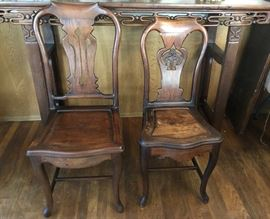 Asian side chairs