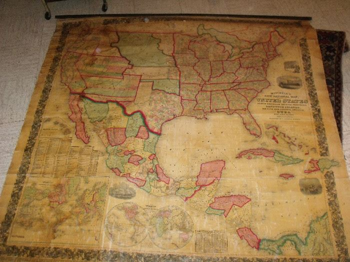 1860 Wall Map! What a find! You need to see this! We have another that is similar that pre dates this one! Come see us!