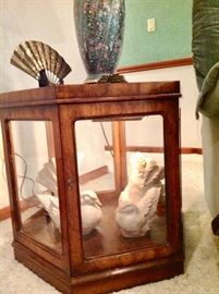 2nd Matching End Table that is also a Lighted Curio