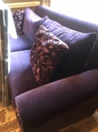 Spectacular purple velvet couch