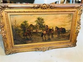 Beautiful Antique circa. 1900 oil on canvas
