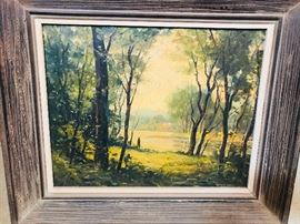Original Wayne Beam Morrell oil on board, circa. 1950. Beautiful Piece