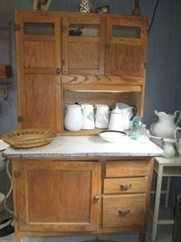 Hoosier cabinet.  Not perfect, but in good condition